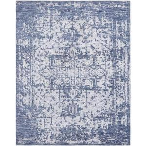 Transitional Blue 5 ft. 6 in. x 8 ft. 6 in. Area Rug