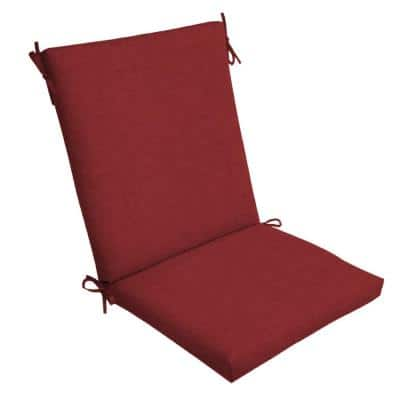 20 x 44 Ruby Leala Texture Outdoor Dining Chair Cushion
