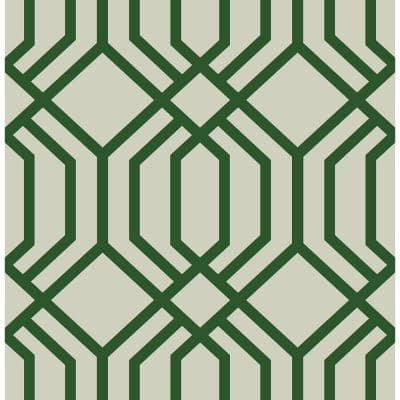 Emerald Speakeasy Self Adhesive Strippable Wallpaper Covers 30.75 sq. ft.