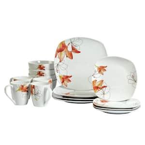 Tabletops Gallery 16-Pcs Casual w/Pattern Ceramic Dinnerware Set Deals