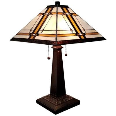 22.5 in. Tiffany Style Mission Table Lamp