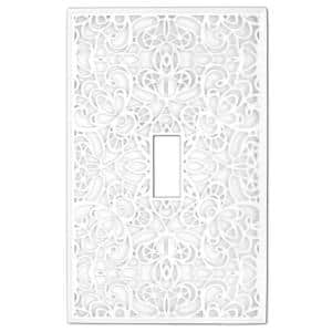 Momfort 1 Gang Toggle Metal Wall Plate - White