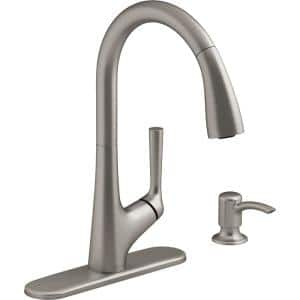 Elmbrook Single-Handle Pull-Down Sprayer Kitchen Faucet in Vibrant Stainless