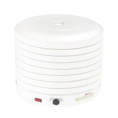 Gardenmaster 8-Tray White Expandable Food Dehydrator with Recipe Book