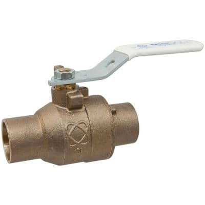 1 in. Bronze Alloy Lead-Free Solder Two-Piece Full Port Ball Valve