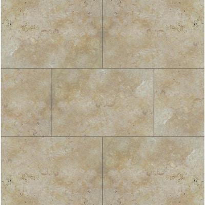 Take Home Tile Sample - Riviera 6 in. x 6 in. Tumbled Travertine Paver Tile (0.25 sq. ft.)