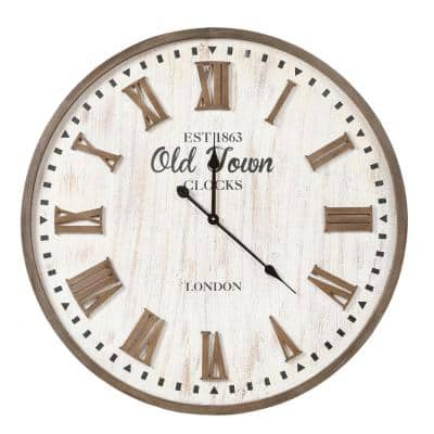 31.5 in. Dia MDF Old Town Wall Clock