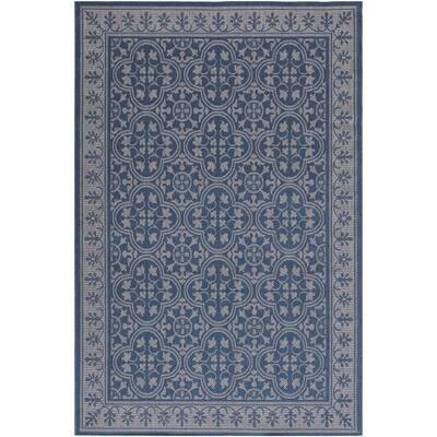 Jasmine Blue 5 ft. x 8 ft. Indoor/Outdoor Area Rug