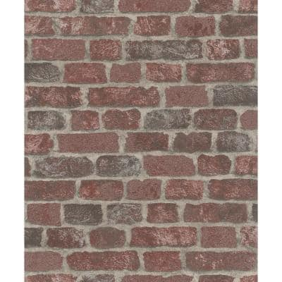 Granulat Red Stone Paper Strippable Wallpaper (Covers 56.4 sq. ft.)