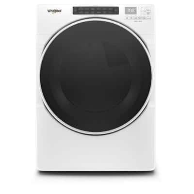 7.4 cu. ft. 240-Volt White Stackable Electric Dryer with Steam and WRINKLE SHIELD Plus Option, ENERGY STAR