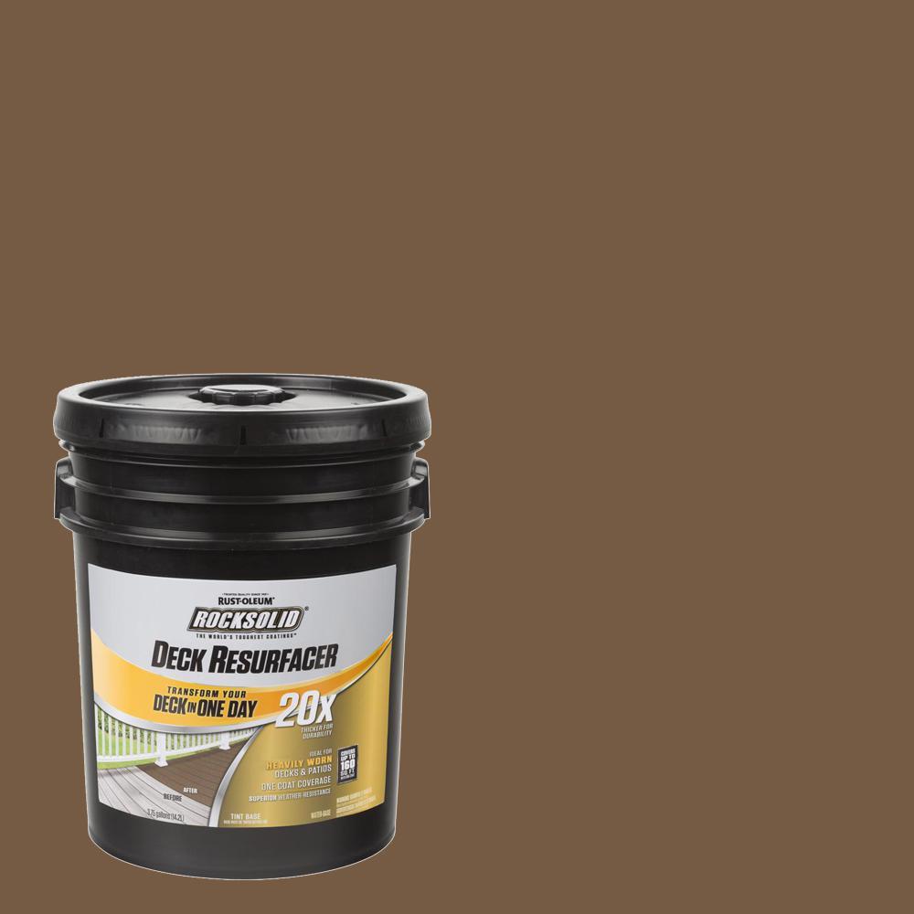 4 gal. Chocolate Exterior 20X Deck Resurfacer