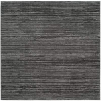 Vision Gray 5 ft. x 5 ft. Square Solid Area Rug