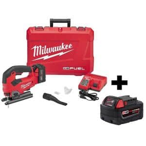 M18 FUEL 18-Volt Lithium-Ion Brushless Cordless Jig Saw Kit W/ M18 5.0 Ah Battery