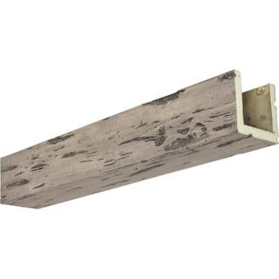 8 in. x 8 in. x 14 ft. 3-Sided (U-Beam) Pecky Cypress Burnished Pine Faux Wood Ceiling Beam