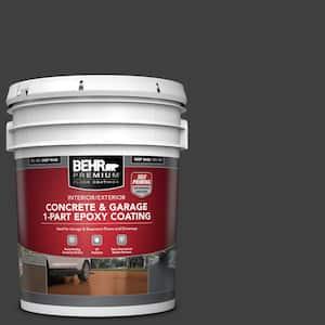 5 Gal. #ECC-10-2 Jet Black Self-Priming 1-Part Epoxy Satin Interior/Exterior Concrete and Garage Floor Paint