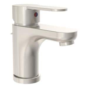 Single Hole Single-Handle 1.0 GPM Bathroom Faucet with Drain Assembly in Brushed Nickel