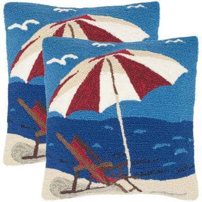 Beach Lounge Soleil Square Outdoor Throw Pillow (2-Pack)