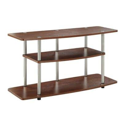 Designs2Go 42 in. Cherry Particle Board TV Stand 42 in. with Cable Management