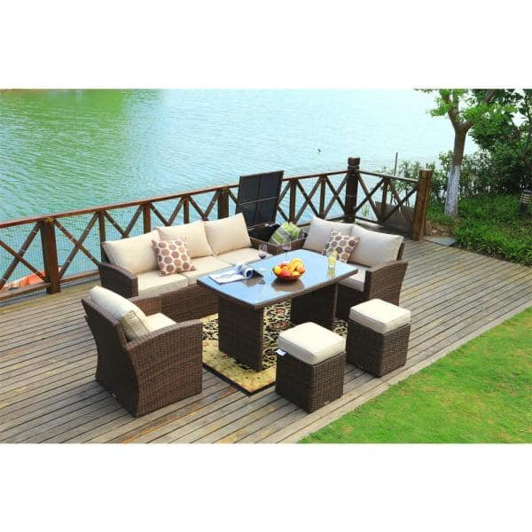 Direct Wicker Beverly 7 Piece Steel, Patio Furniture Direct