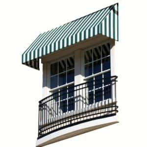 10.38 ft. Wide New Yorker Window/Entry Awning (16 in. H x 30 in. D) Forest/White