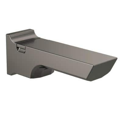 Pivotal 9 in. Pull-Up Diverter Tub Spout, Black Stainless