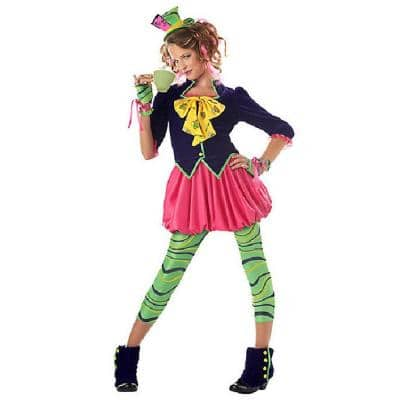 Large Girls the Mad Hatter Kids Costume
