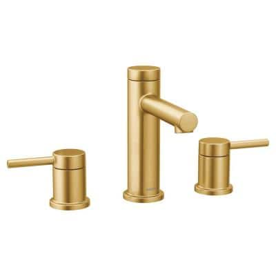 Align 8 in. Widespread 2-Handle Bathroom Faucet Trim Kit in Brushed Gold (Valve Not Included)
