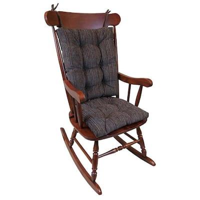 Gripper Polar Chenille Chocolate Jumbo Rocking Chair Cushion Set