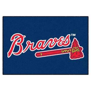 MLB Atlanta Braves Blue 1 ft. 7 in. x 2 ft. 6 in. Indoor Rectangular Accent Rug