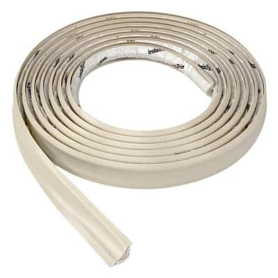 3/4 in. x 10 ft. Ivory PVC Inside Corner Self-Adhesive Flexible Caulk and Trim Molding