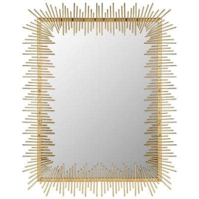 Sunray 35.5 in. x 27 in. Iron and Glass Framed Mirror