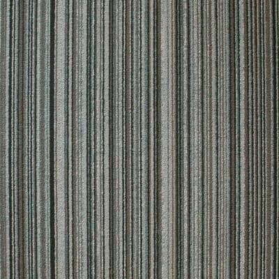 Framework Rainstorm Loop 19.7 in. x 19.7 in. Carpet Tile (20 Tiles/Case)