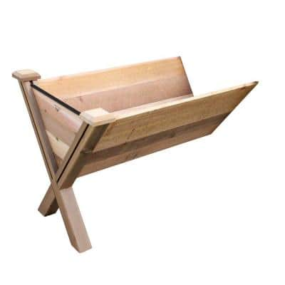 48 in. x 30 in. Rustic Cedar Modular Eco Wedge Planter Extension Kit