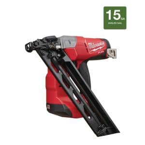 M18 FUEL 18-Volt Lithium-Ion Brushless Cordless 15-Gauge Angled Finish Nailer (Tool Only)
