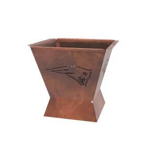Badlands NFL 29.5 in. x 26 in. Square Steel Wood Fire Pit -New England Patriots