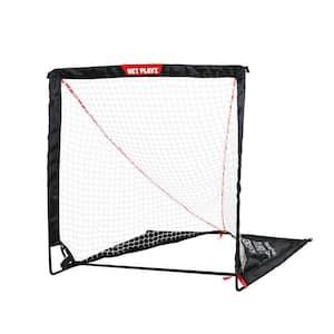 Net Playz 4 ft. x 4 ft. Portable Easy Setup/Fold Up Lacrosse Fiberglass Goal