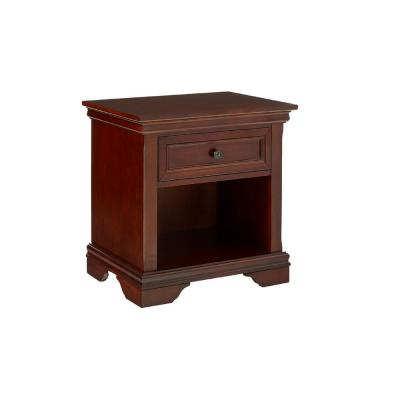 Lafayette 1 Drawer 22in. x 16 in. x 24 in. Cherry Night Stand