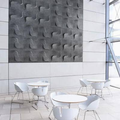 FeltForms 24 in. W x 24 in. L x 2 in. H White Acoustic Insulation Twist Panels (4-Pack)
