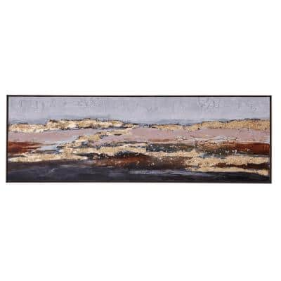 60 in. x 20 in. Abstract Multi Color Hand Painted Canvas Wall Art