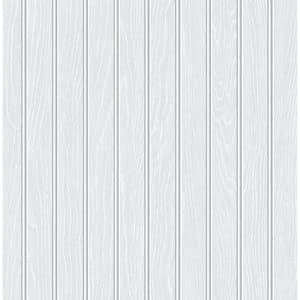 Faux Beadboard Off-White Vinyl Peel & Stick Wallpaper Roll (Covers 30.75 Sq. Ft.)