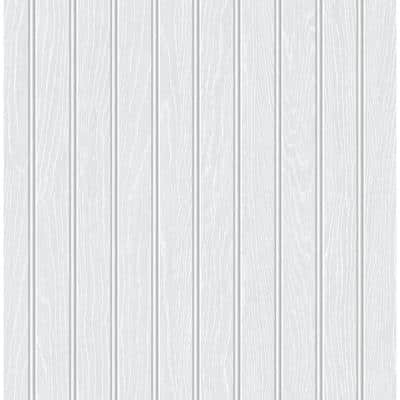Faux Beadboard Off-White Vinyl Peel & Stick Wallpaper Roll (Covers 30.75 Sq. Ft.)