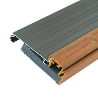 Adjustable Height 4-1/2 in. x 76 in. Satin Nickel Aluminum Threshold