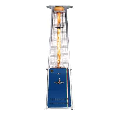 92.5 in. 2G PRO COLORWAYS Triangle Flame Tower Heater 66,000BTU Electronic Ignition Ultramarine Liquid Propane Assembled