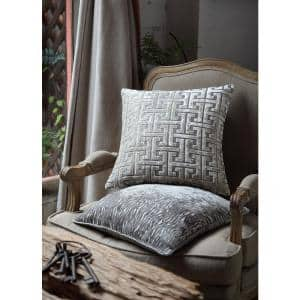 Morgan Home Gold Geometric 18 in Throw Pillow Cover