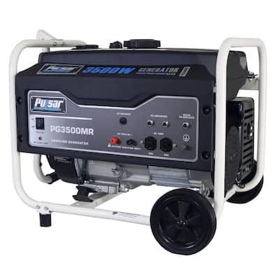 3,500-Watt/3,000-Watt Recoil Start Gasoline Powered Portable Generator with 208 cc CARB Compliant Engine