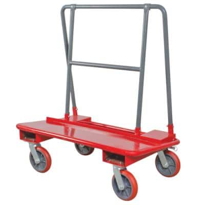 Drywall Cart Dolly Handling Sheetrock and Plywood with Heavy-Duty Caster Wheels, 3000 lbs. Load Capacity