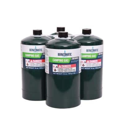 16 oz. Liquid Propane Gas Camping Cylinder (4-Pack)