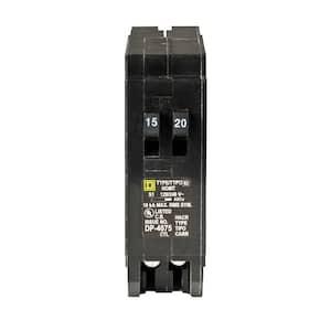 Homeline 15 Amp 20 Amp Single-Pole Tandem Circuit Breaker