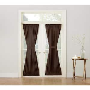 Chocolate Solid Rod Pocket Room Darkening Curtain - 54 in. W x 72 in. L