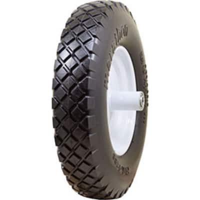 Flat-Free Ribbed Tread Wheelbarrow Tire